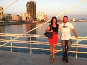 Luke and I in Durrës