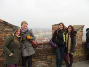 My travel buddies: Danielle, Mary, Megan!