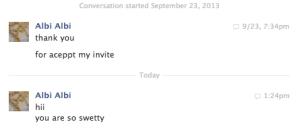 Yes, I am so swetty.